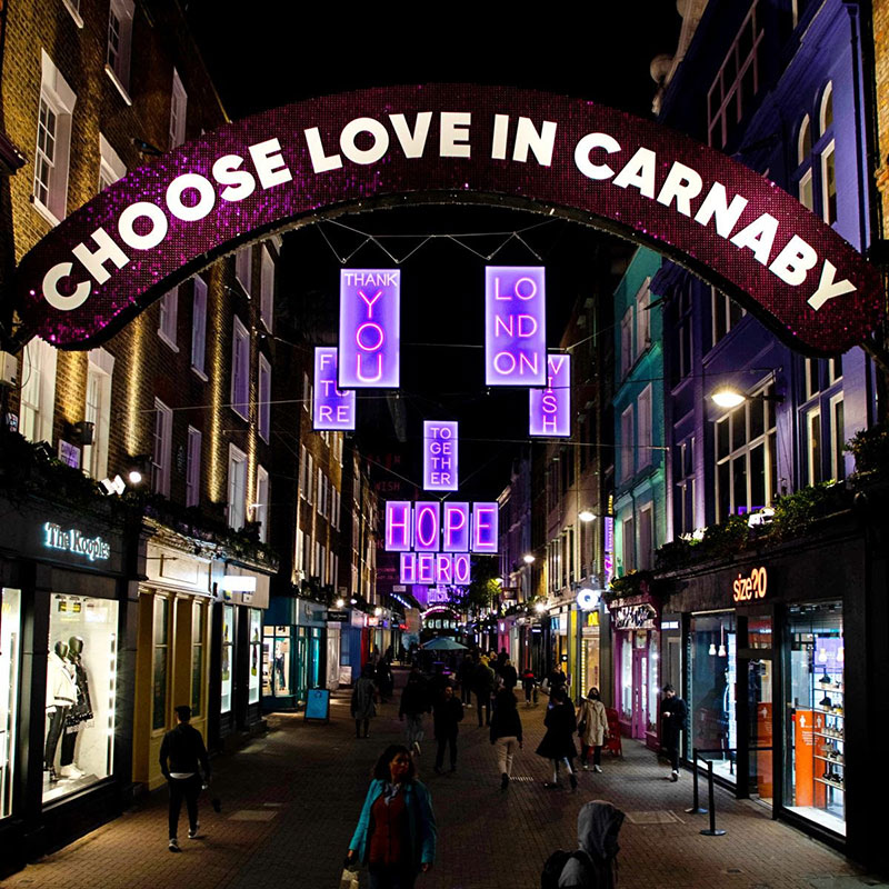 Choose love in Carnaby