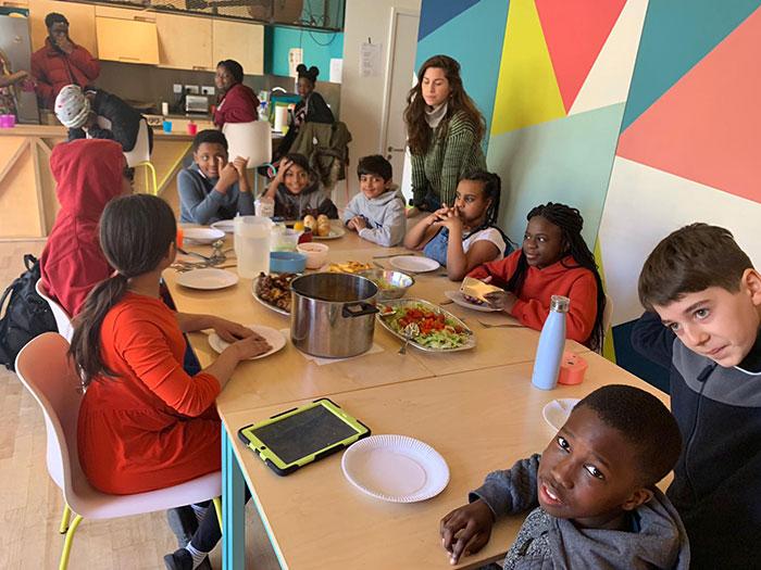 Young People Enjoying Lunch