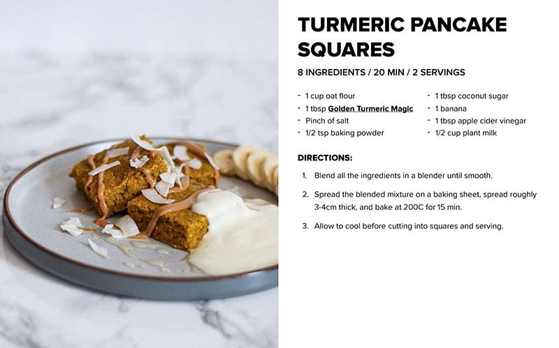 Turmeric Pancake Squares Recipe