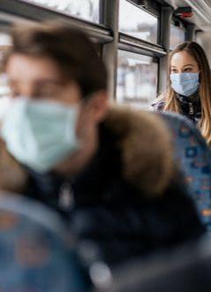 Keep masks on public transport