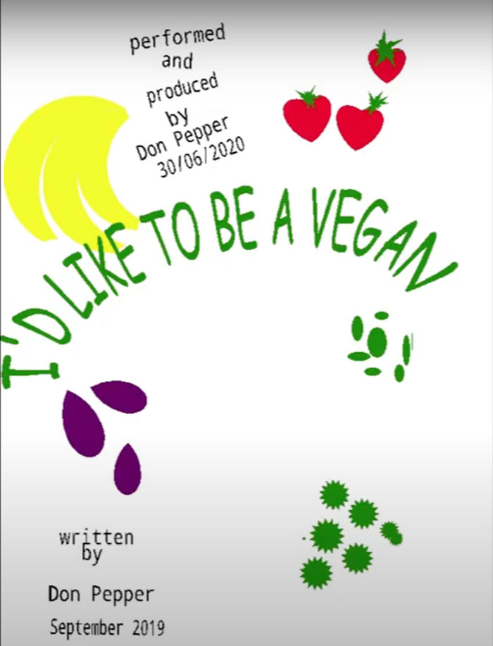I'd like to be a vegan poster